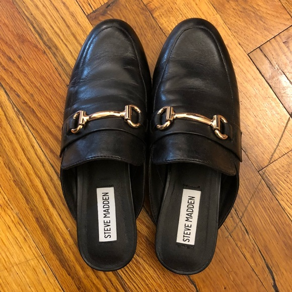 a5ed6f8ffd0 Steve Madden Shoes - Steve Madden Black Mules Size 6.5